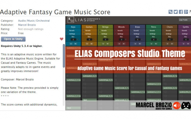 Music available in Unity Asset Store